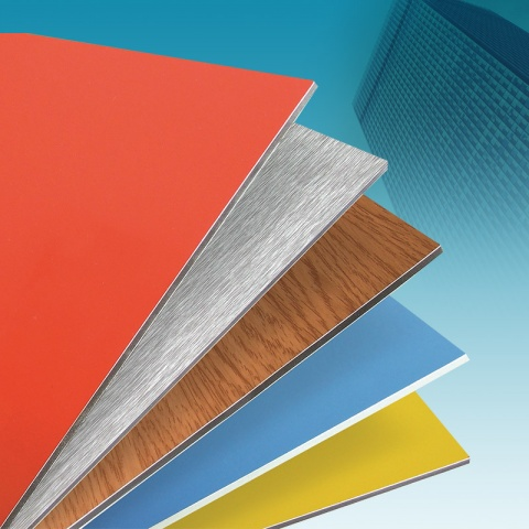 PVDF COATED ALUMINUM COMPOSITE PANEL FOR CLADDING